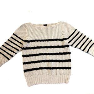 J Crew Striped Cotton Sweater Like New